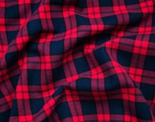 Obraz texture of red black checkered fabric - fototapety do salonu