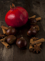 Chestnuts and Pomegranate