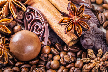 Various chocolate and anise