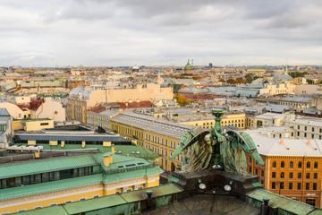 Вид на центр Санкт-Петербурга с колоннады Исаакиевского собора