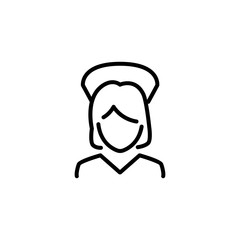 Premium nurse icon or logo in line style.