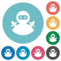 Ninja avatar flat round icons