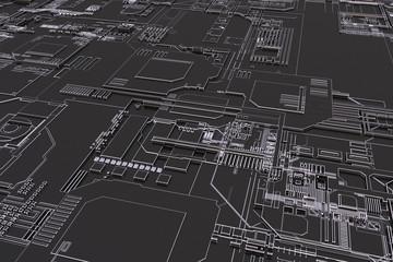 a close up of a futuristic computer board