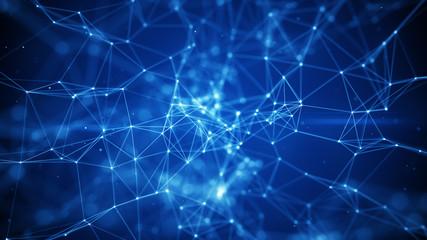 Blue network shape with DOF