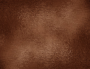 Copper foil textured background. Bronze grunge texture for graphic design, wrapping paper sample.
