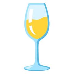 Vector Color Icon - White Wine Glass