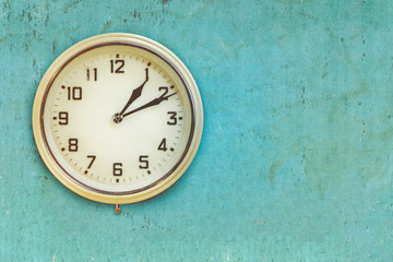 Vintage mid twentieth century plastic electric clock