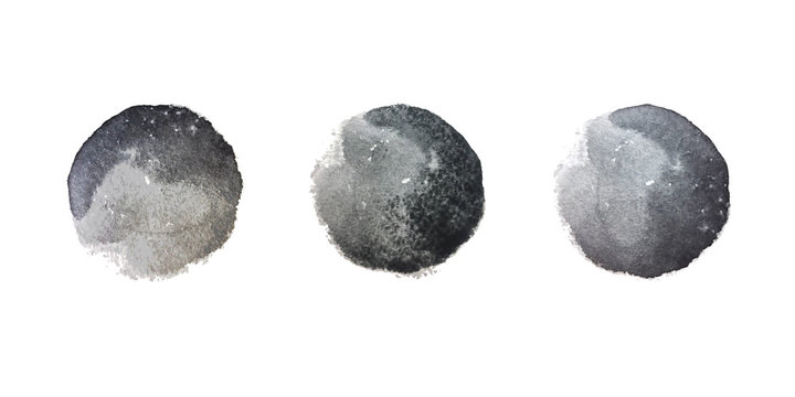 Black watercolor stains