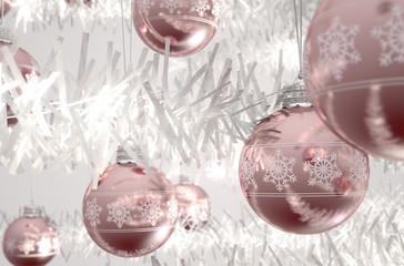 Rose Gold Christmas Baubels