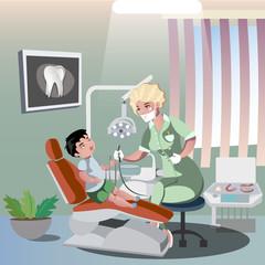 Children s dentist and patient.