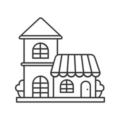 Restaurant, cafe linear icon
