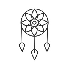 Dreamcatcher linear icon