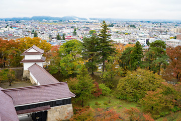 鶴ヶ城天守閣からの風景