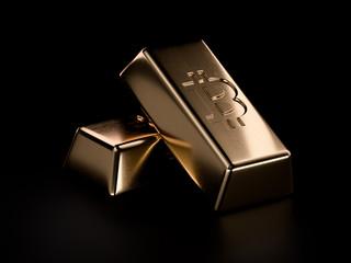 Bitcoin golden bars