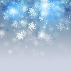 Christmas Holiday Blue Background