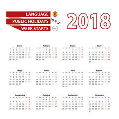 Calendar 2018 in Spanish language with public holidays the country of Mexico in year 2018.