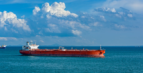 Oil tanker in Singapore strait