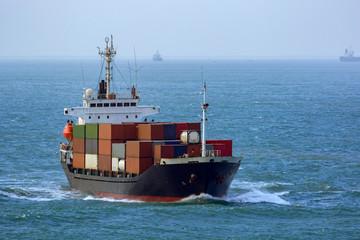 Container vessel in Vung Tau quay. Vietnam