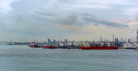 Oil refineries and petrochemical industry on Jurong island