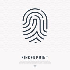 Fingerprint thin line icon. Modern vector illustration of password identity.