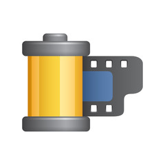 Film Cartridge - Novo Icons. A professional, pixel-aligned icon designed on a 64 x 64 pixel.