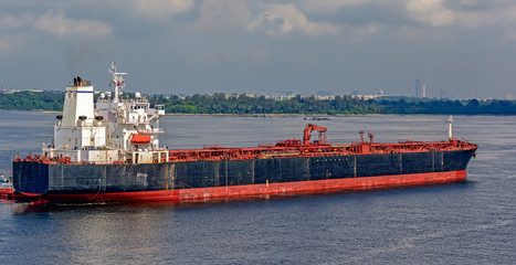 Oil products tanker in Johor strait