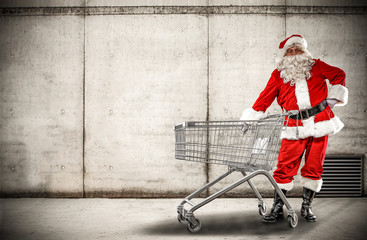santa claus and shopping time