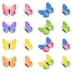 Butterflies vector set