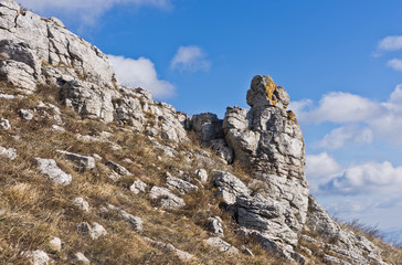Interesting rock formations near the top of a mountain Rtanj, central Serbia
