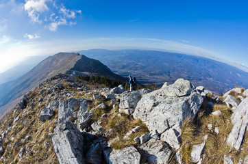 Landscape around mountain Rtanj on a sunny day, central Serbia