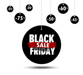 Banner black friday flat design for sale Shopping Discount Poster Concept - 50%,