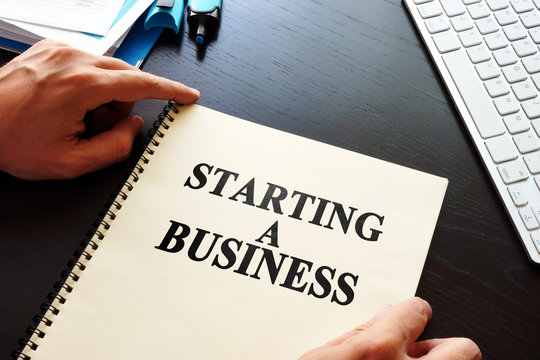 Book Starting a business on a desk.