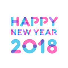 Happy new year 2018 greeting card design