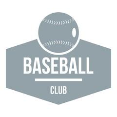 Baseball logo, simple gray style