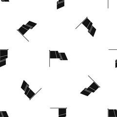 Flag pattern seamless black