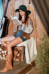 bohemian girl reading book