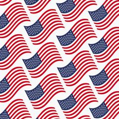American-flags-vector