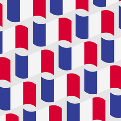 French-flags-vector