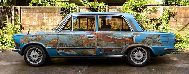 blue Ford classic car