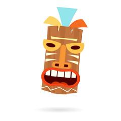 Tiki mask head