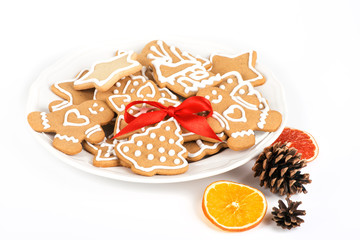 Christmas cookies with decoration /