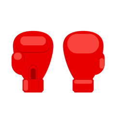 Red boxing glove icon, front and back.