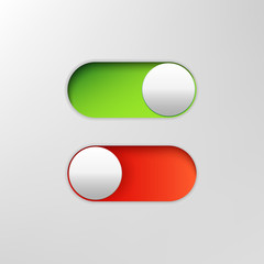 Phone switch icon. On off toggle for design applications. Phone slider bar