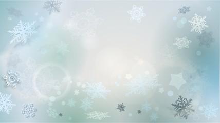 winterlicher Hintergrund mit Schneeflocken