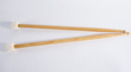 Drum sticks, isolated, on background.