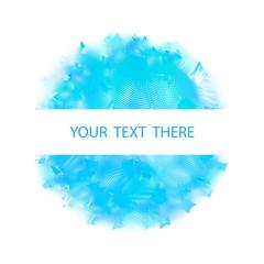 Blue Light Abstract Circle Design Element. vector illustration. blue flare design