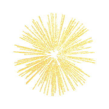 Abstract sparkles rays light explosion. Gold or yellow burst.