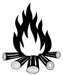Bonfire on a white background vector eps 10