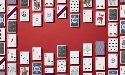 Digital image of playing cards