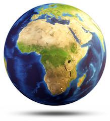 Wall Mural - Earth sphere map 3d rendering